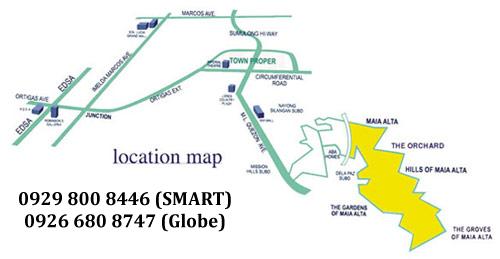 Maia Alta Antipolo Location Map